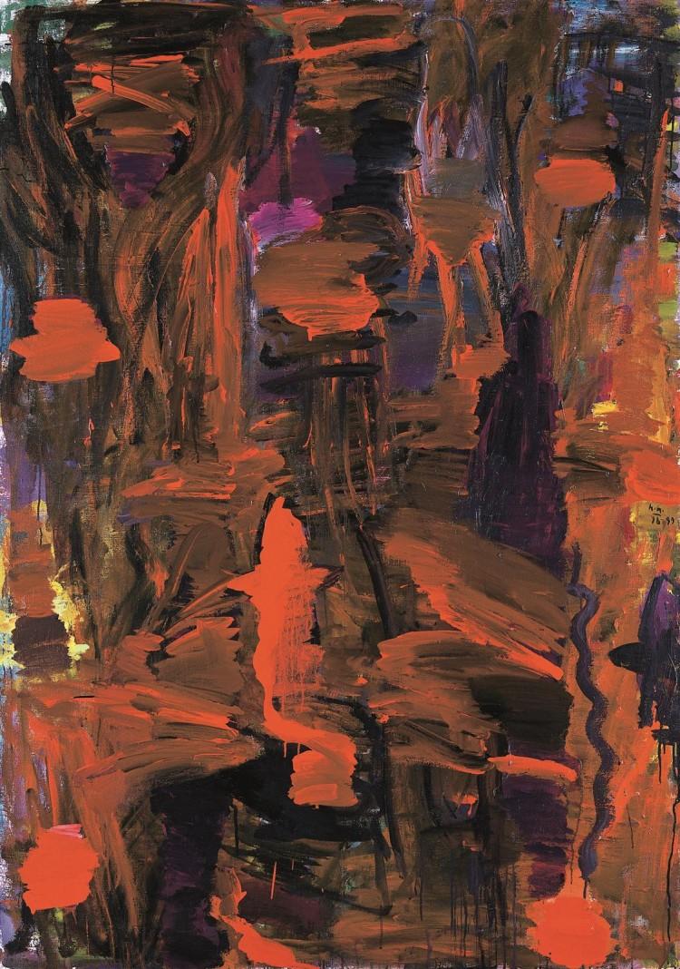 Pesmi za Nico (Gostosevci) / Songs for Nico (Gostosevci) / Lieder für Nico (Gostosevci) , 1998 - 1999, akril, platno / acrylic, canvas / Acryl, Leinwand, 210 x 141 cm