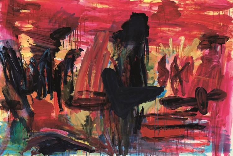 Pesmi za Nico / Songs for Nico / Lieder für Nico, 1999, akril, platno / acrylic, canvas / Acryl, Leinwand, 140 x 211 cm