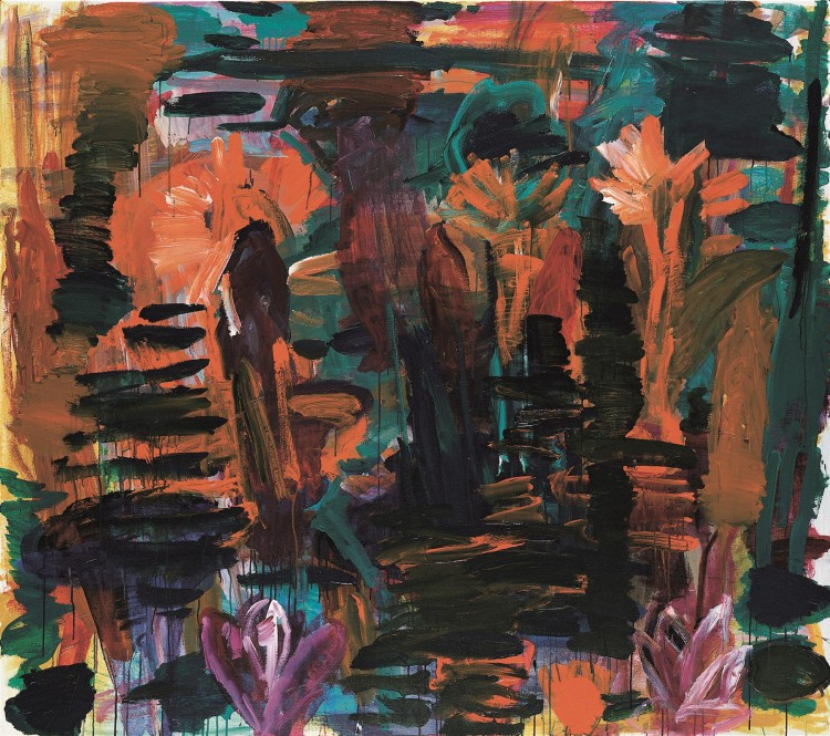 Krajina (končna verzija) / Landscape (final vesion) / Landschaft (Endversion), 1999, akril, platno / acrylic, canvas / Acryl, Leinwand, 181 x 204 cm