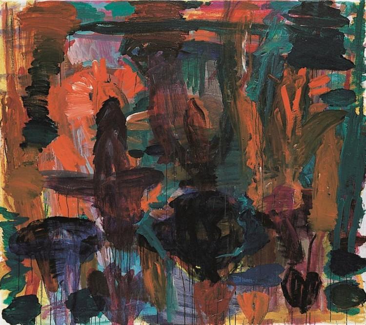 Krajina (verzija l) / Landscape (vesion l) / Landschaft (Version l), 1999, akril, platno / acrylic, canvas / Acryl, Leinwand, 181 x 204 cm