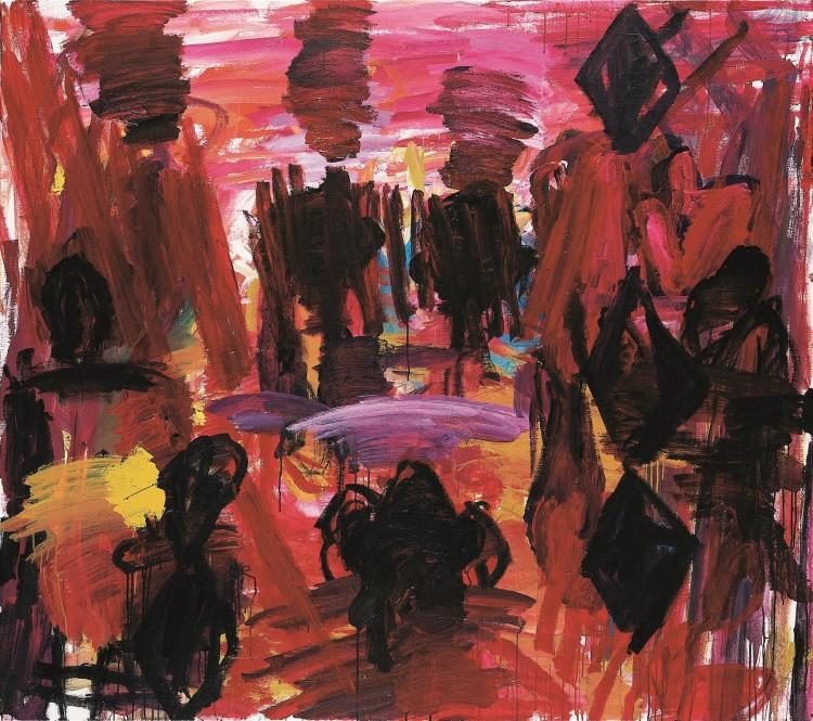 Krajina / Landscape / Landschaft, 2000, akril, platno / acrylic, canvas / Acryl, Leinwand, 181 x 204 cm