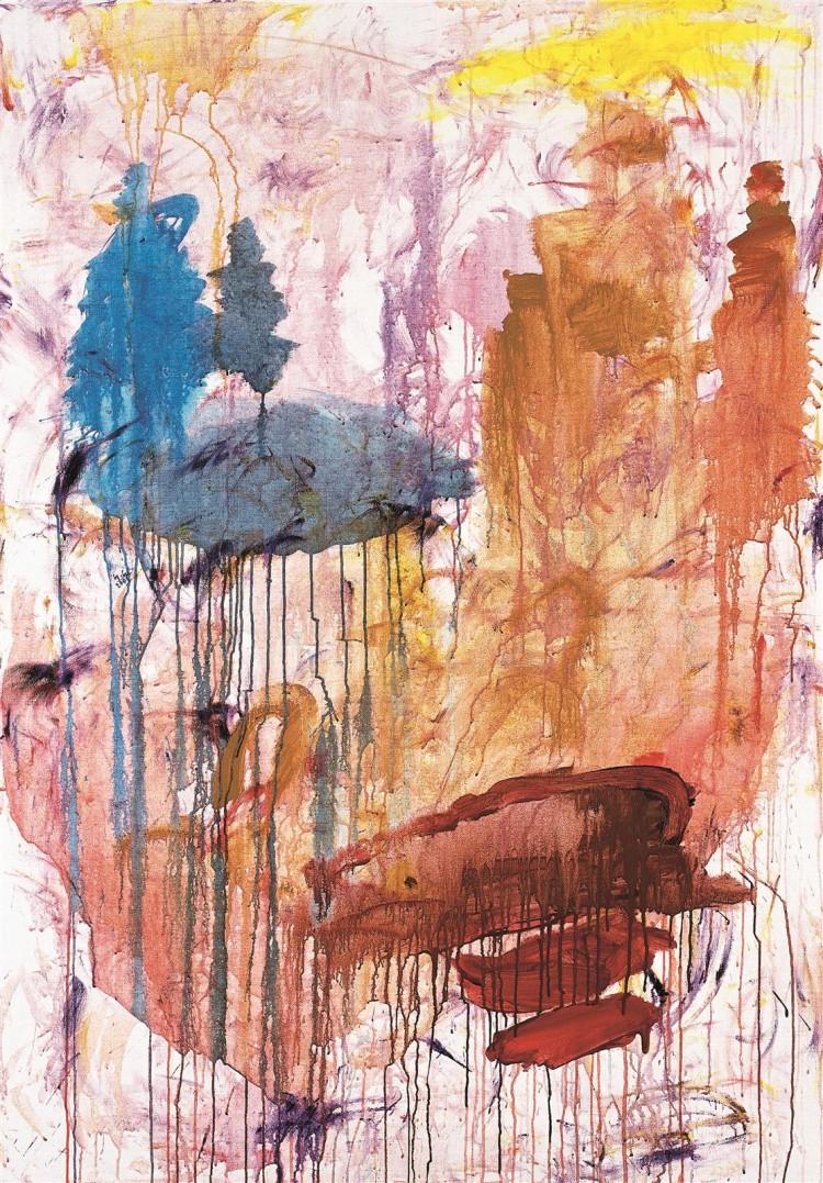 Krajina / Landscape / Landschaft, 2001, akril, platno / acrylic, canvas / Acryl, Leinwand, 183 x 123 cm