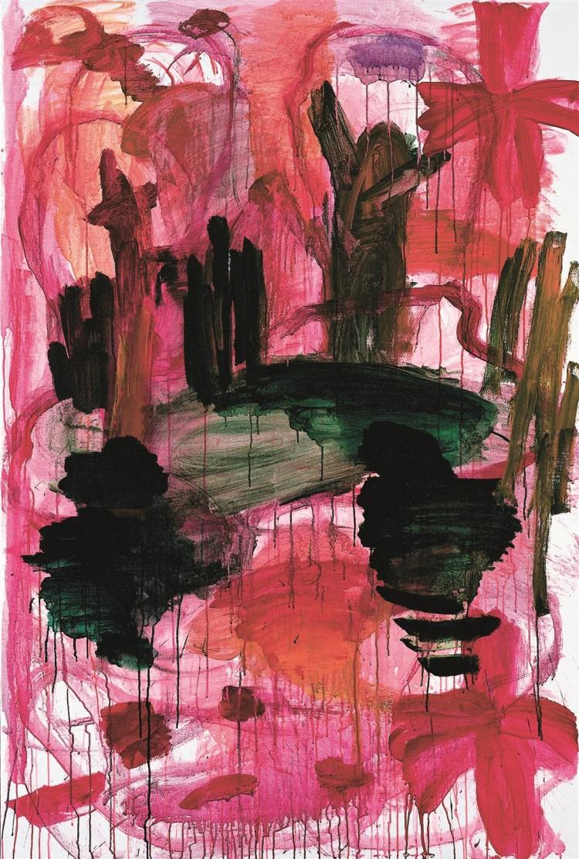 Krajina / Landscape / Landschaft, 2002, akril, platno / acrylic, canvas / Acryl, Leinwand, 183 x 123 cm