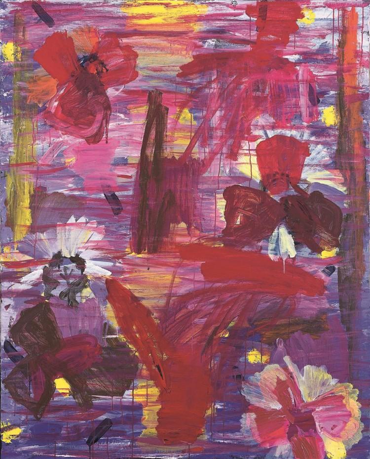 Krajina / Landscape / Landschaft, 2002, akril, platno / acrylic, canvas / Acryl, Leinwand, 177 x 143 cm