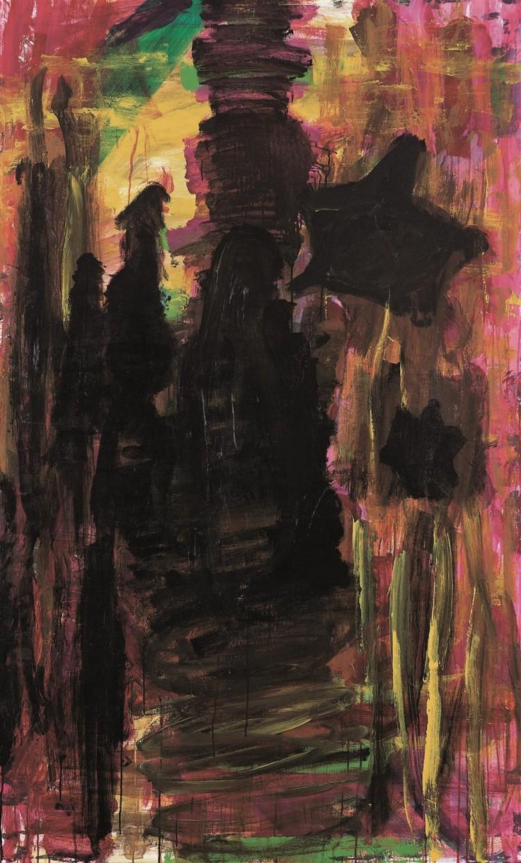 Pesmi za Nico (diptih) / Songs for Nico (diptych) / Lieder für Nico (Diptychon), 2003 – 2005, akril, platno / acrylic, canvas / Acryl, Leinwand, 200 x 120 cm