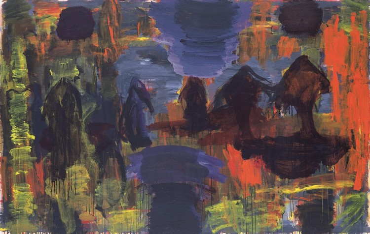 Monologi / Monologue / Monologe, 2004, akril, platno / acrylic, canvas / Acryl, Leinwand, 147 x 230 cm