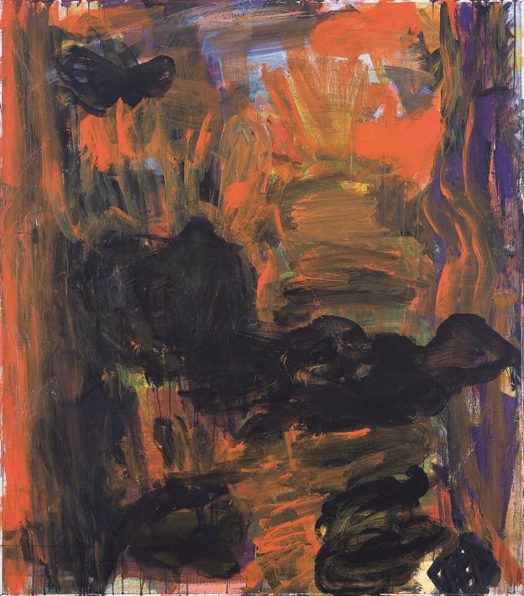 Mračenje / Dusk / Dämmerung, 2004 – 2006, akril, platno / acrylic, canvas / Acryl, Leinwand, 155 x 135 cm