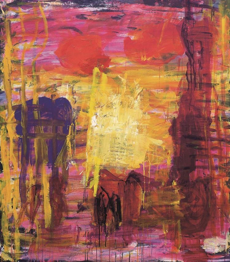 Krajina / Landscape / Landschaft, 2004, akril, platno / acrylic, canvas / Acryl, Leinwand, 157 x 137 cm