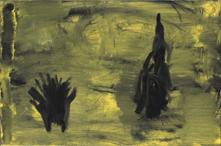 Mračenje / Dusk / Dämmerung, 2006, akril, platno / acrylic, canvas / Acryl, Leinwand, 60 x 40 cm