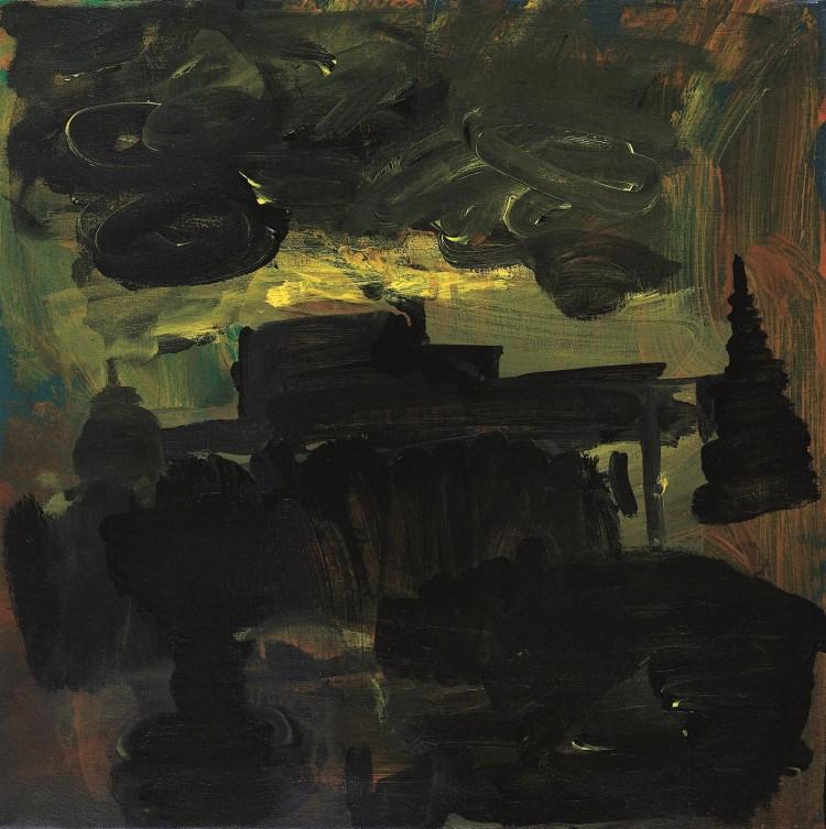 Krajina / Landscape / Landschaft, 2006, akril, platno / acrylic, canvas / Acryl, Leinwand, 50 x 50 cm