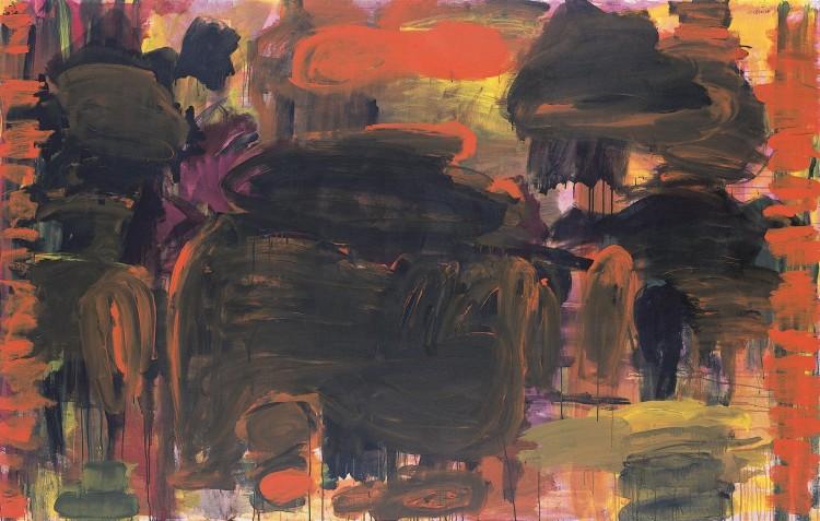 Krajina – Mračenja / Landscape – Dusk / Landschaft – Dämmerung, 2006, akril, platno / acrylic, canvas / Acryl, Leinwand, 157 x 247 cm