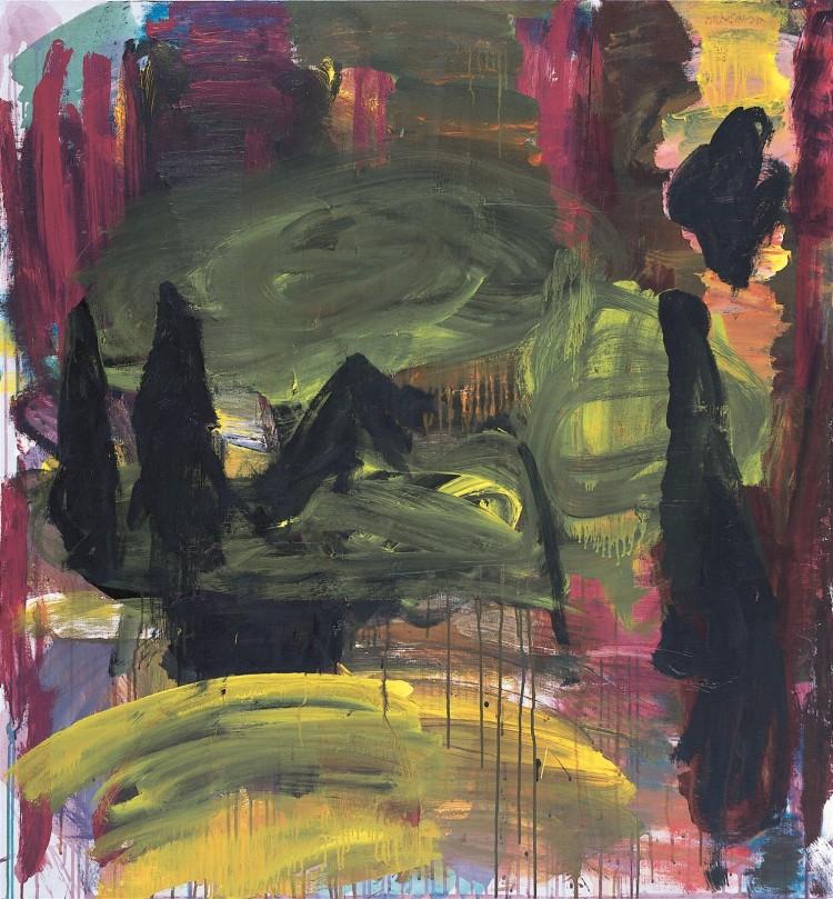 Krajina – Mračenja / Landscape –Dusk / Landschaft – Dämmerung, 2006, akril, platno / acrylic, canvas / Acryl, Leinwand, 137 x 127 cm