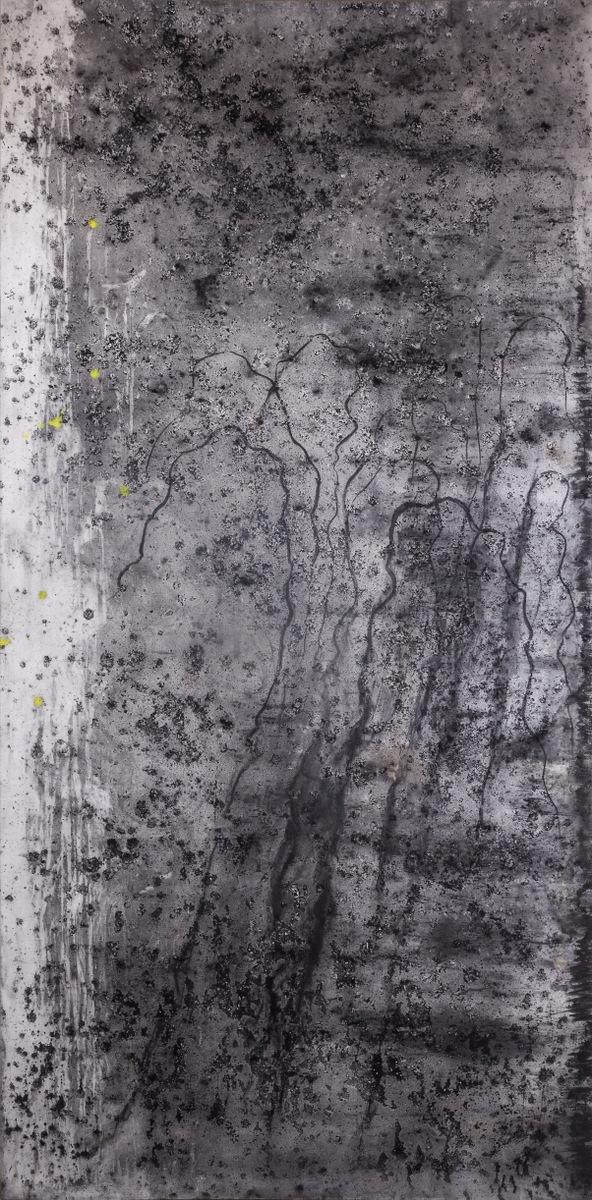 Prisoners OST (homage a Johan Johansson), 210x110cm, oglje na platnu, 2018