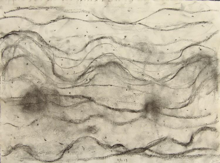 Krajina, 2013, 50x67cm, oglje