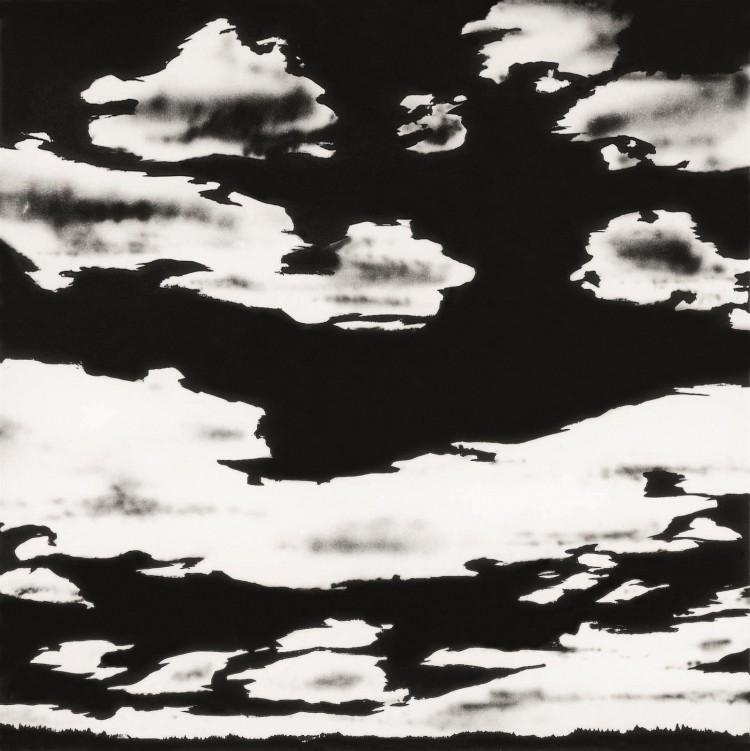 Cumulus, 1973, akril, platno / acrylic, canvas / Acryl, Leinwand, 180 x 180 cm