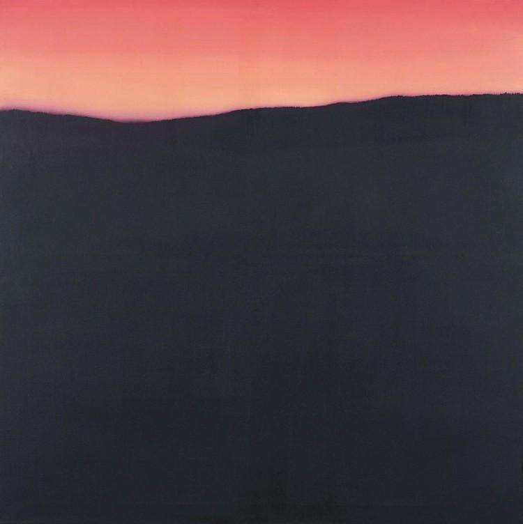 Tipična krajina / Typical Lansdcape / Typische Landschaft, 1975, akril, platno / acrylic, canvas / Acryl, Leinwand, 180 x 180 cm