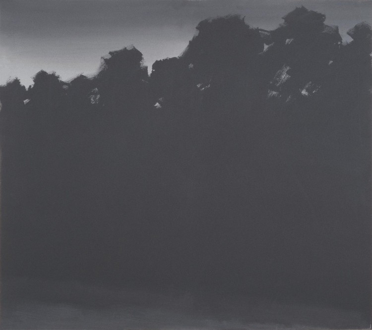 Krajina / Landscape / Landschaft, 1977, akril, platno / acrylic, canvas / Acryl, Leinwand, 180 x 200 cm