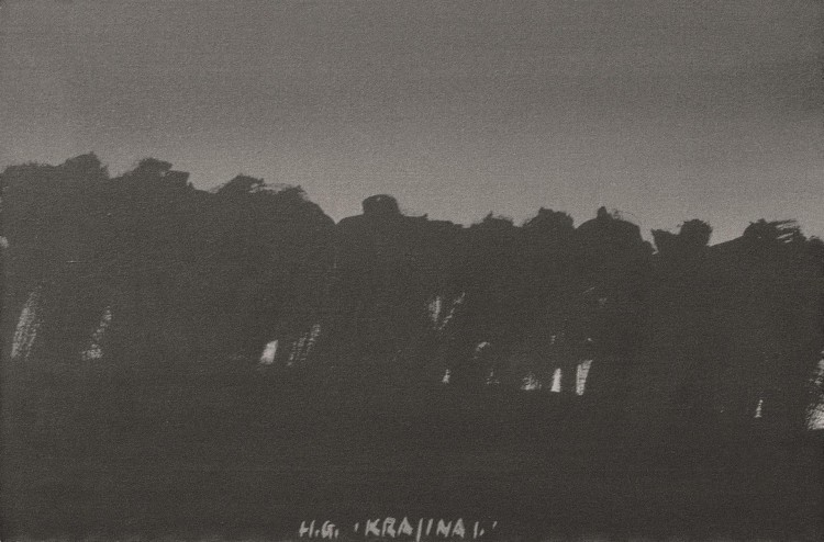 Krajina / Landscape / Landschaft, 1977, akril, platno / acrylic, canvas / Acryl, Leinwand, 60,3 x 90,3 cm
