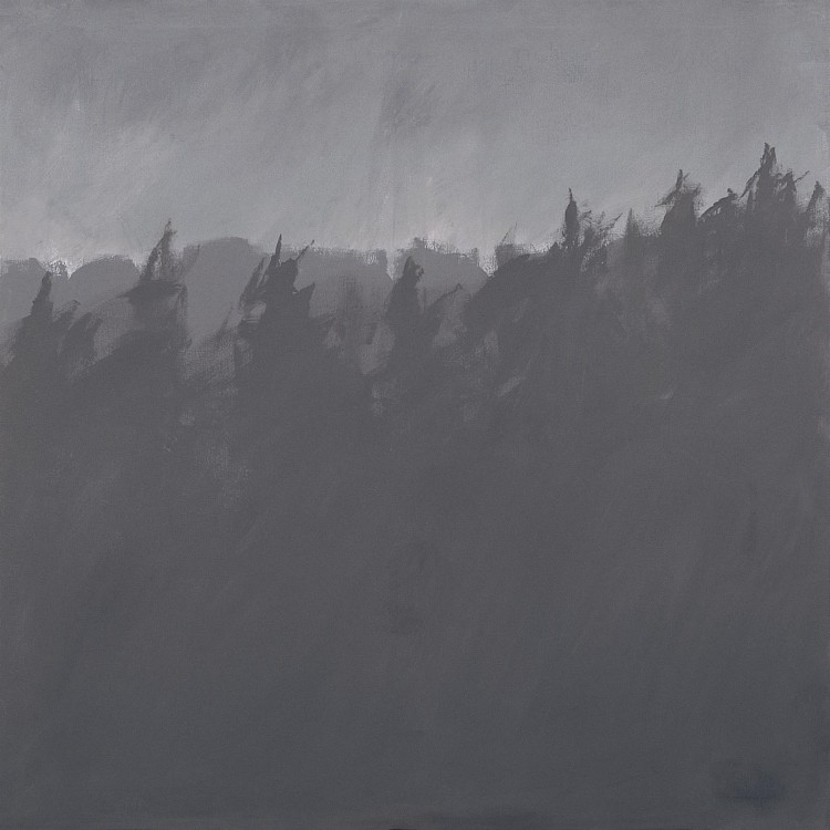 Krajina / Landscape / Landschaft, 1977, akril, platno / acrylic, canvas / Acryl, Leinwand, 180 x 180 cm