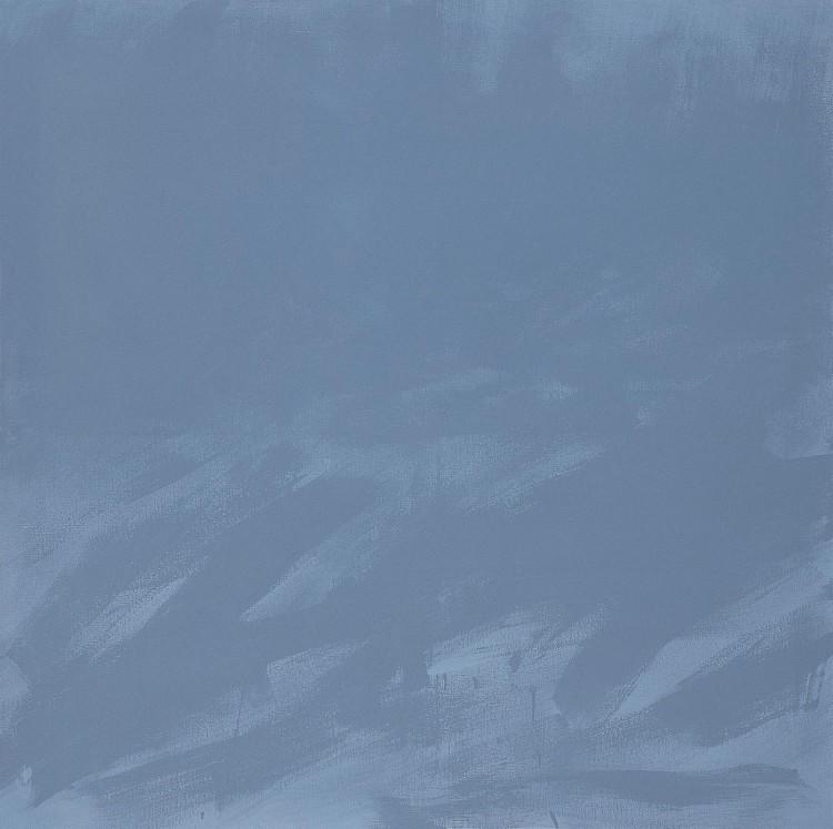 Krajina / Landscape / Landschaft, 1979, akril, platno / acrylic, canvas / Acryl, Leinwand, 150 x 150 cm