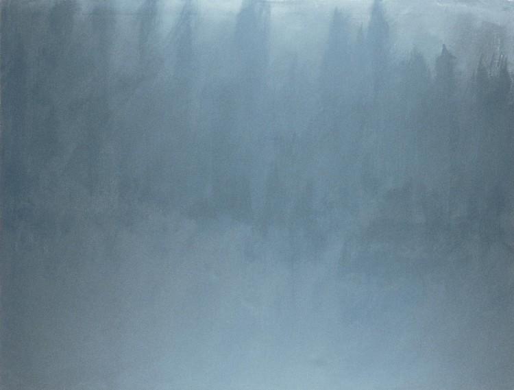 Krajina / Landscape / Landschaft, 1979, akril, platno / acrylic, canvas / Acryl, Leinwand, 180 x 230 cm