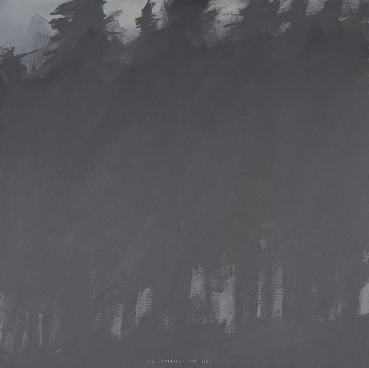 Dobrava, 1979, akril, platno / acrylic, canvas / Acryl, Leinwand, 180 x 180 cm