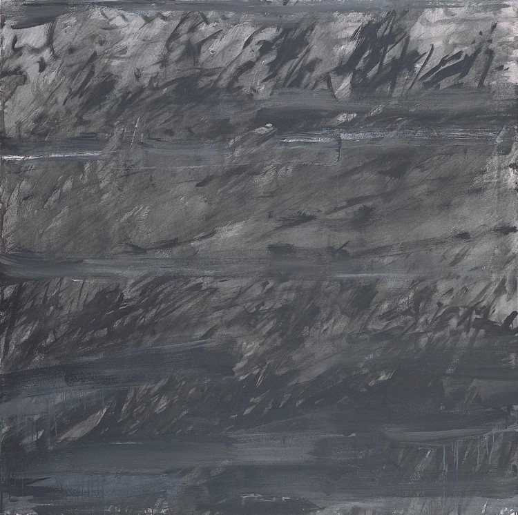 Trave / Grass / Gras, 1981, akril, platno / acrylic, canvas / Acryl, Leinwand, 180 x 180 cm