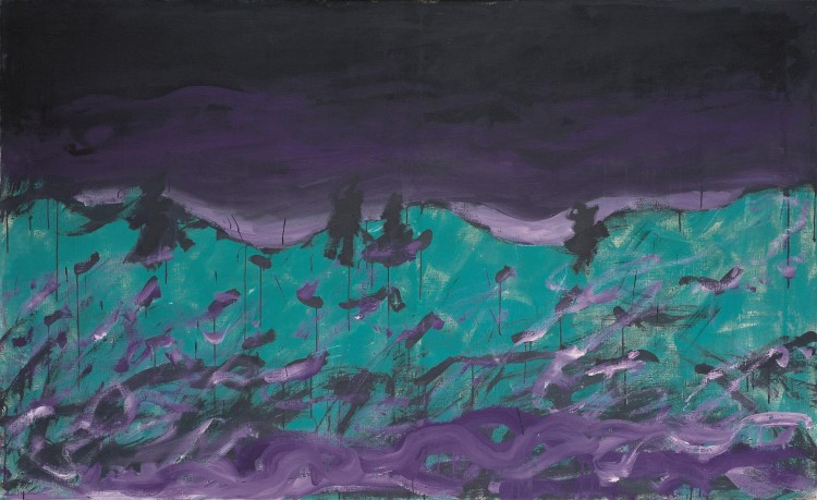 Krajina / Landscape / Landschaft, 1983, akril, platno / acrylic, canvas / Acryl, Leinwand, 130 x 210 cm