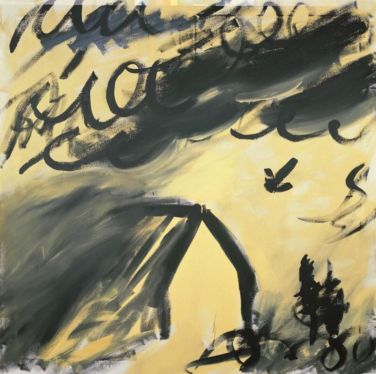 Haus, 1984, akril, platno / acrylic, canvas / Acryl, Leinwand, 180 x 180 cm