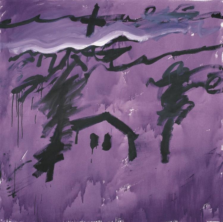 Krajina / Landscape / Landschaft, 1984, akril, platno / acrylic, canvas / Acryl, Leinwand, 180 x 180 cm
