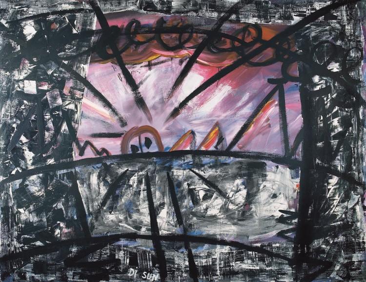 Sole, 1984, akril, platno / acrylic, canvas / Acryl, Leinwand, 180 x 240 cm