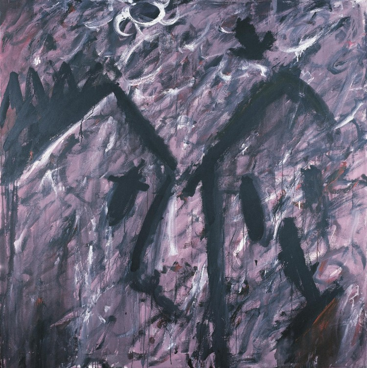Krajina / Landscape / Landschaft, 1985, akril, platno / acrylic, canvas / Acryl, Leinwand, 180 x 180 cm