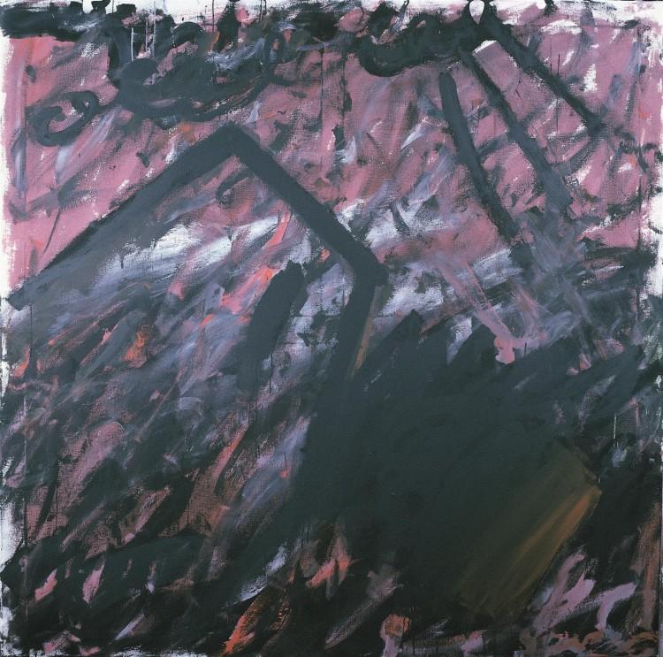 Beleharjeva / Belehars / von Belehar, 1985, akril, platno / acrylic, canvas / Acryl, Leinwand, 180 x 180 cm