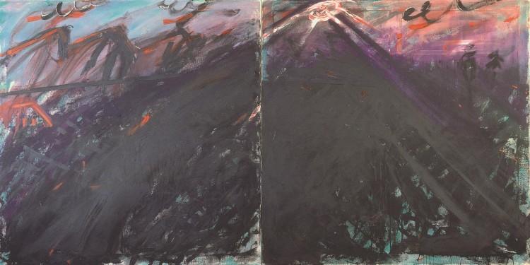 Blitz, 1985, akril, platno / acrylic, canvas / Acryl, Leinwand, 180 x 360 cm