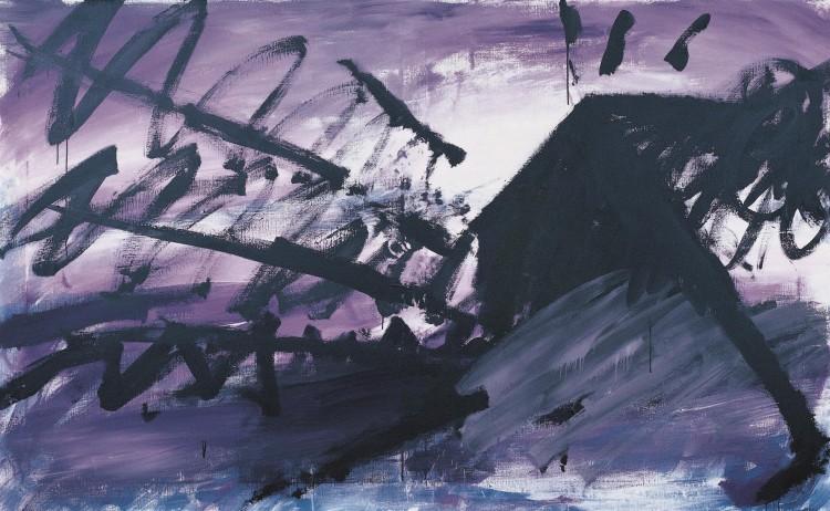 Haus (končna verzija / final version / Endversion), 1985, akril, platno / acrylic, canvas / Acryl, Leinwand, 180 x 220 cm