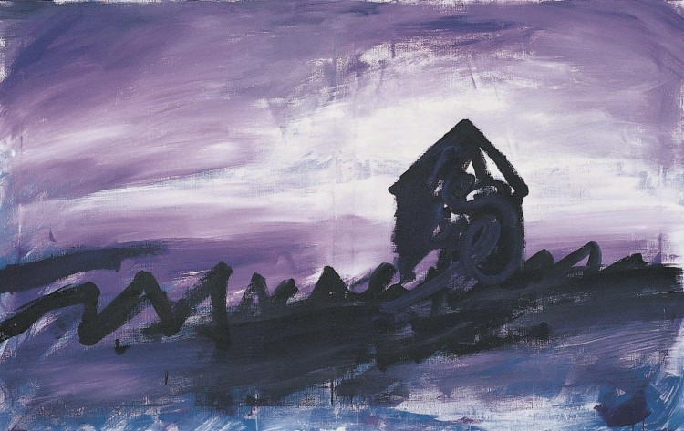 Haus (verzija l / version l / Version l), 1985, akril, platno / acrylic, canvas / Acryl, Leinwand, 180 x 220 cm