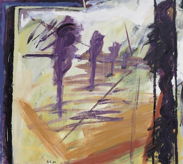 Slovenae, 1988, akril, platno / acrylic, canvas / Acryl, Leinwand, 180 x 200 cm