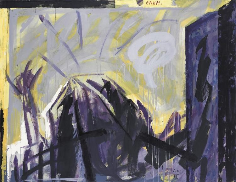 P. N. K. M., 1988, akril, platno / acrylic, canvas / Acryl, Leinwand, 180 x 230 cm
