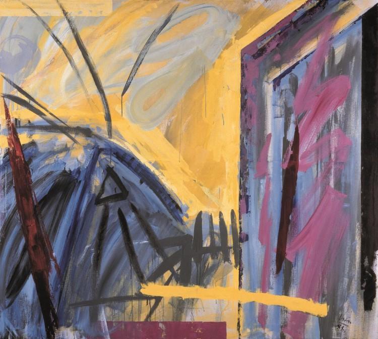 P. N. K. M., 1988, akril, platno / acrylic, canvas / Acryl, Leinwand, 180 x 200 cm
