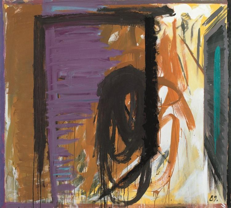 Zimski solsticij / Midwinter Solstice / Wintersonnenfinale, 1989, akril, platno / acrylic, canvas / Acryl, Leinwand, 180 x 200 cm