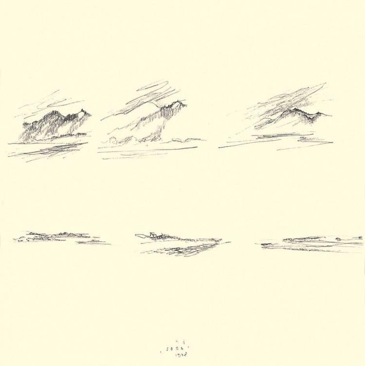 Sora, 1978, grafit, papir / graphite, paper / Grafit, Papier, 29 x 29 cm