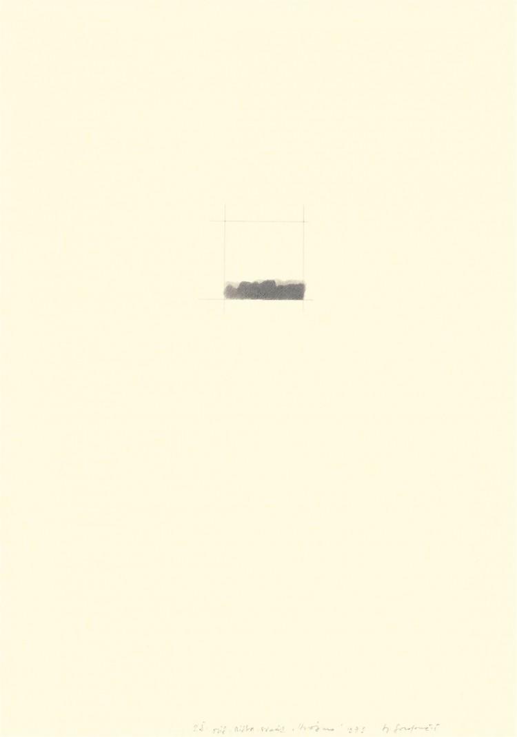 Elementi krajine / Elements of a Landscape / Land -schaftselemente, 1979, grafit, papir / graphite, paper / Grafit, Papier, 75,5 x 55 cm