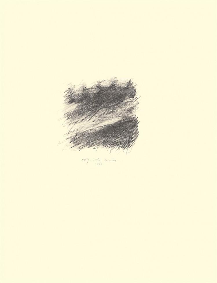 B.N., 1980, grafit, papir / graphite, paper / Grafit, Papier, 63 x 48 cm