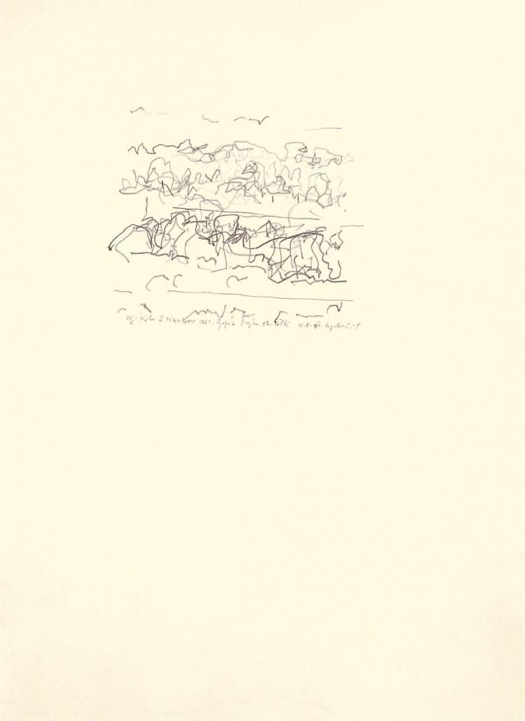 Zapuže, 1981, grafit, papir / graphite, paper / Grafit, Papier, 69 x 50 cm