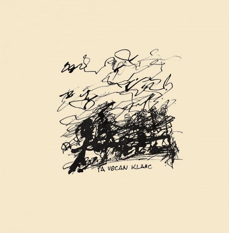 Ta vscan klanc / That Grotty Slope / Die bepisste Steigung, 1981, tuš, papir / Indian ink, paper / Tusche, Papier, 41,5 x 29 cm