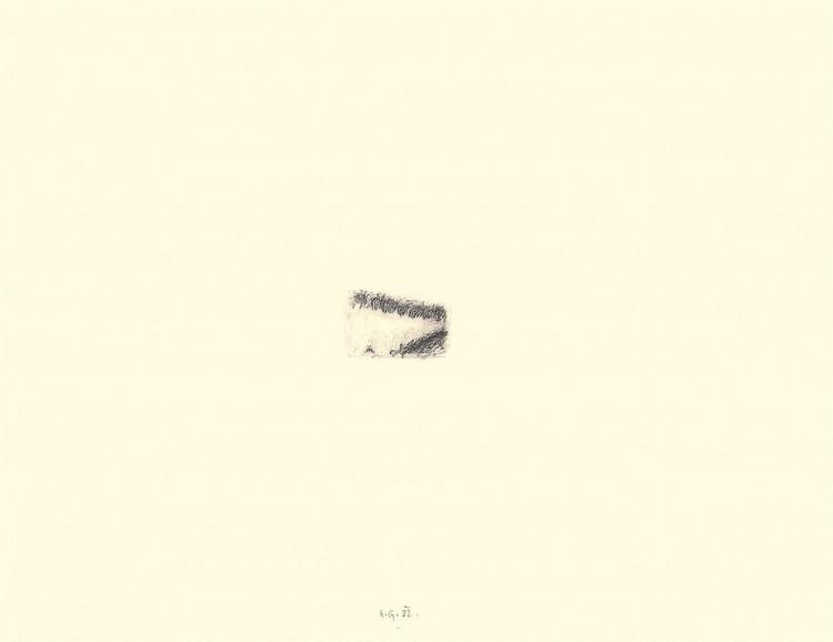 In memoriam, 1982, grafit, papir / graphite, paper / Grafit, Papier, 48 x 62 cm