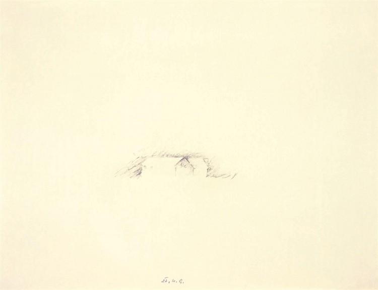 Reminiscence / Reminiscences / Reminiszenzen, 1982, grafit, papir / graphite, paper / Grafit, Papier, 48 x 63 cm