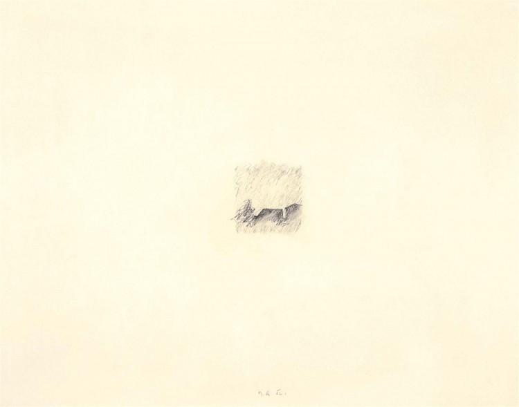 In memoriam, 1982, grafit, papir / graphite, paper / Grafit, Papier, 48 x 63 cm