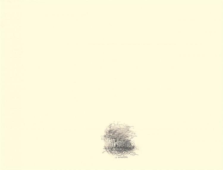 In memoriam, 1983, grafit, papir / graphite, paper / Grafit, Papier, 48 x 63 cm