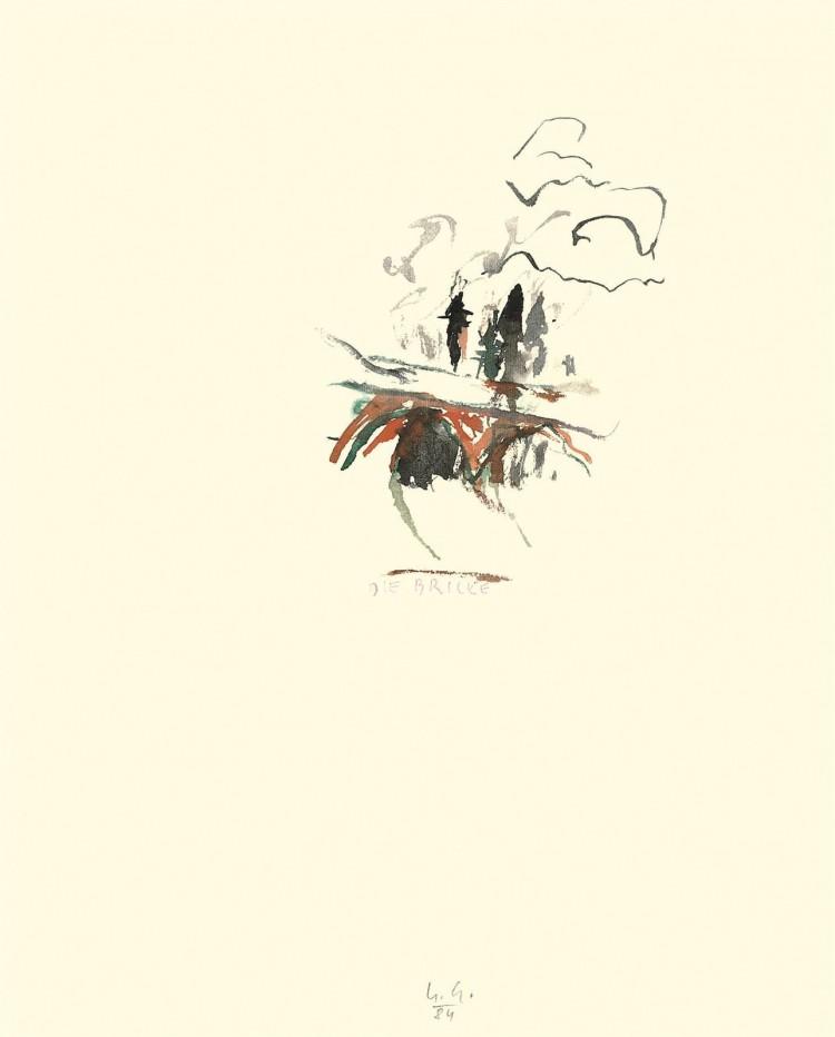Intima / Intimacy / Intima, 1984, akvarel / watercolour / Aquarell, 50 x 40 cm